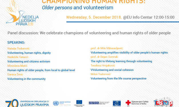 Champions of volunteering and Human Rights, 5 December, International Volunteer Day